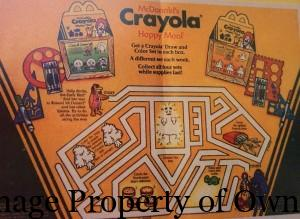 Crayola Happy Meal box