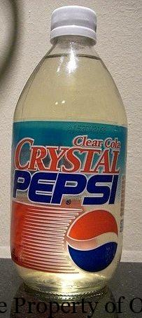 crystal pepsi bottle