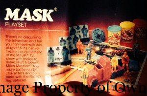 MASK Play-Doh set  yello80s
