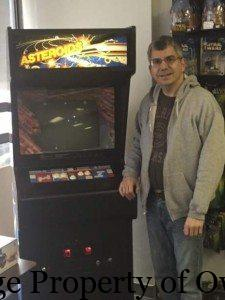 Too Groovy owner Bobby Novotny with Asteroids