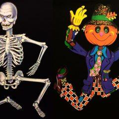 A Very Yello80s Halloween: Spooky decor